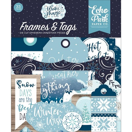 Echo Park - Winter Magic Collection - Die Cut Tags & Frames