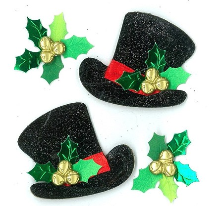 EK Success - Jolee's Boutique - Dimensional Stickers - Lace Top Hats :)