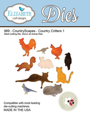 Elizabeth Craft Designs - Die - Country Scapes Country Critters by Susan Tierney Cockburn