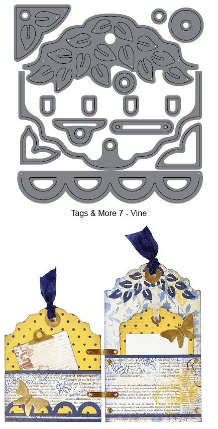 Elizabeth Craft Designs - Die - Tags & More 7 (vine)