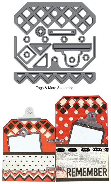 Elizabeth Craft Designs - Die - Tags & More 8 (lattice)