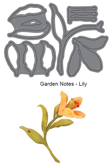 Elizabeth Craft Designs - Die - Garden Notes Lily by Susan Tierney Cockburn