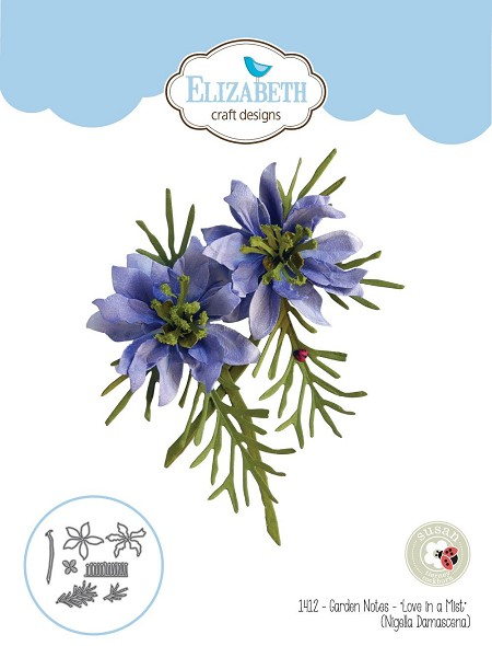 Elizabeth Craft Designs - Die - Garden Notes Love In A Mist (Nigella Damascena) by Susan Tierney Cockburn