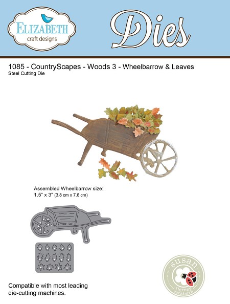 Elizabeth Craft Designs - Die - CountryScapes Woods 3 - Wheelbarrow & Leaves