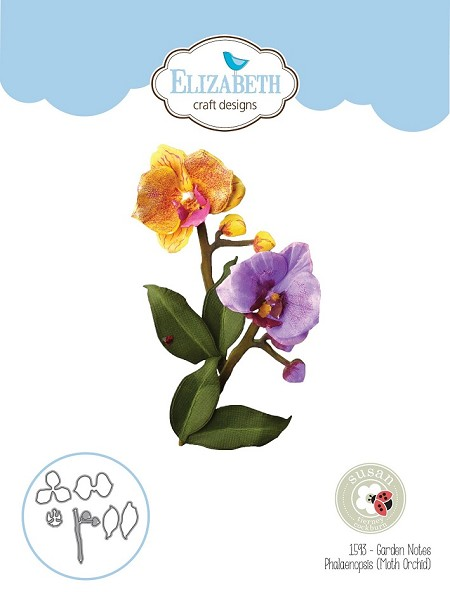 Elizabeth Craft Designs - Die - Garden Notes Phalaenopsis (Moth Orchid) by Susan Tierney Cockburn