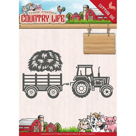 Find It Trading - Yvonne Creations Die - Country Life Tractor