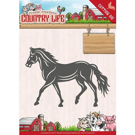 Find It Trading - Yvonne Creations Die - Country Life Horse