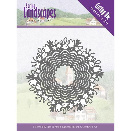 Find It Trading - Jeanine's Art Die - Spring Landscapes Scalloped Circles