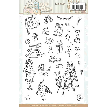 Find It Trading - Yvonne Creations Clear Stamp - Newborn