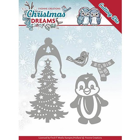 Find It Trading - Yvonne Creations Die - Christmas Dreams Christmas Penguin