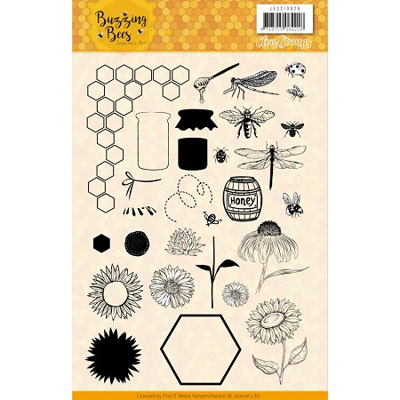 Find It Trading - Jeanine's Art Clear Stamp - Buzzing Bees