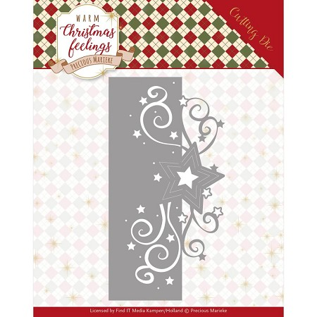Find It Trading - Precious Marieke Die - Warm Christmas Feelings Star Swirl Edge
