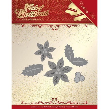 Find It Trading - Precious Marieke Die - Touch of Christmas Poinsettia