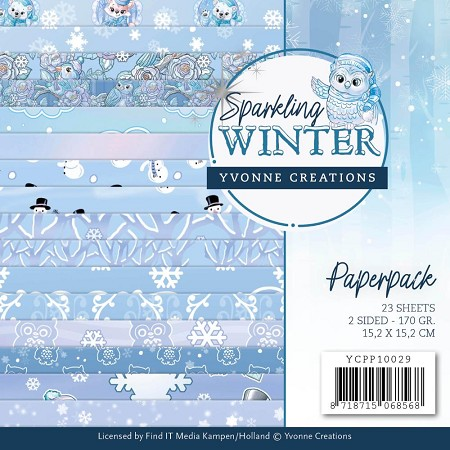 "Find It Trading - Yvonne Creations - Sparkling Winter 6""x6"" Paper Pad"