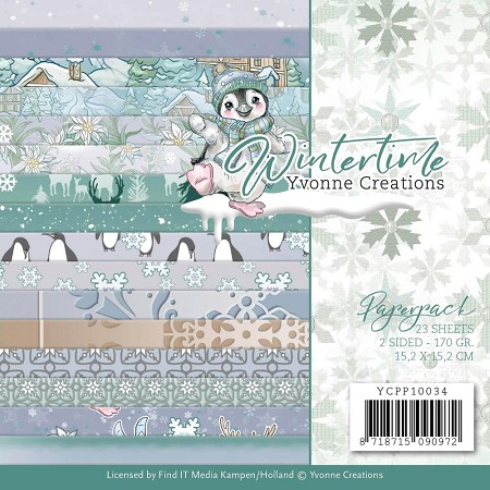 "Find It Trading - Yvonne Creations - Wintertime 6""x6"" Paper Pad"