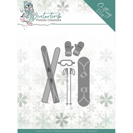 Find It Trading - Yvonne Creations Die - Wintertime Ski Accessories