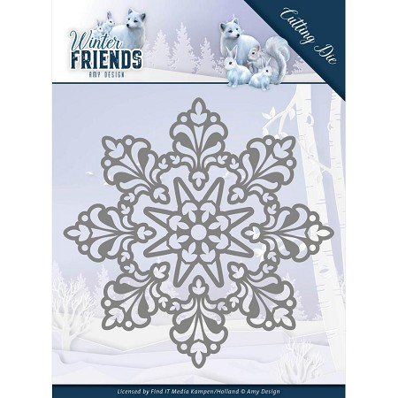Find It Trading - Amy Design Die - Winter Friends Snow Crystal