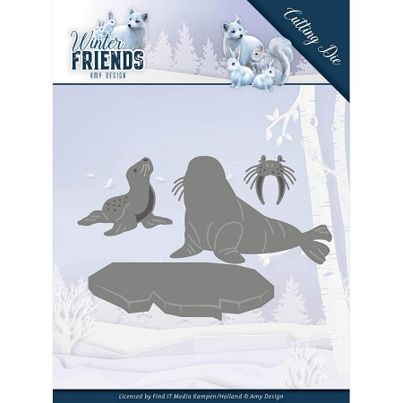Find It Trading - Amy Design Die - Winter Friends Polar Friends