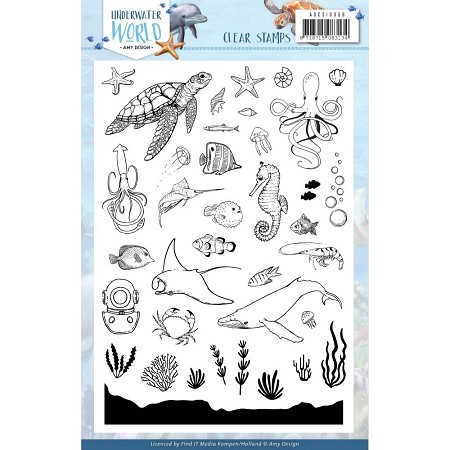 Find It Trading - Amy Design Clear Stamps - Underwater World