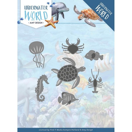 Find It Trading - Amy Design Die - Underwater World Ocean Animals
