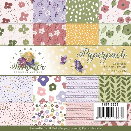 "Find It Trading - Precious Marieke - Blooming Summer 6""x6"" Paper Pad"