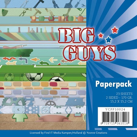 "Find It Trading - Yvonne Creations - Big Guys 6""x6"" Paper Pad"