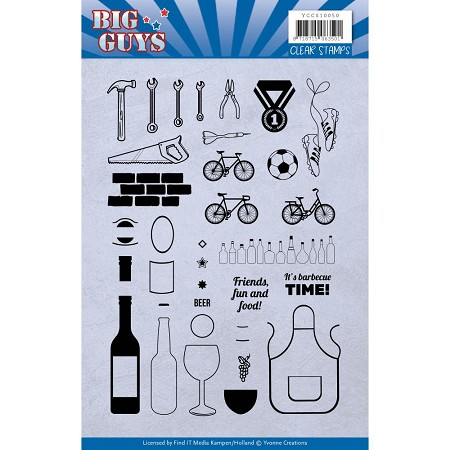 Find It Trading - Yvonne Creations Clear Stamp - Big Guys