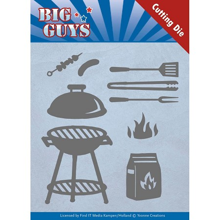 Find It Trading - Yvonne Creations Die - Big Guys BBQ Time