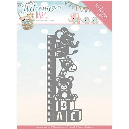 Find It Trading - Yvonne Creations Die - Welcome Baby Growth Chart