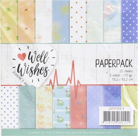 "Find It Trading - Jeanine's Art - Well Wishes 6""x6"" Paper Pad"