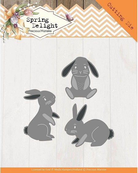 Find It Trading - Precious Marieke Die - Spring Delight Spring Bunnies