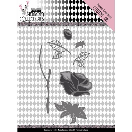 Find It Trading - Yvonne Creations Die - Pretty Pierrot Rose