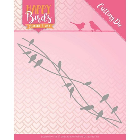Find It Trading - Jeanine's Art Die - Happy Birds Bird Friends