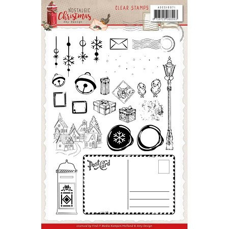 Find It Trading - Amy Design Clear Stamp - Nostalgic Christmas