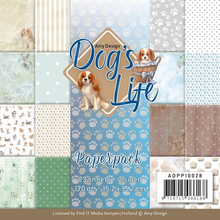 "Find It Trading - Amy Design - Dog's Life 6""x6"" Paper Pad"
