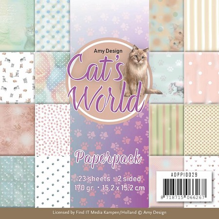 "Find It Trading - Amy Design - Cat's World 6""x6"" Paper Pad"