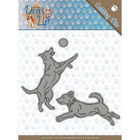Find It Trading - Amy Design Die - Dog's Life Playing Dogs