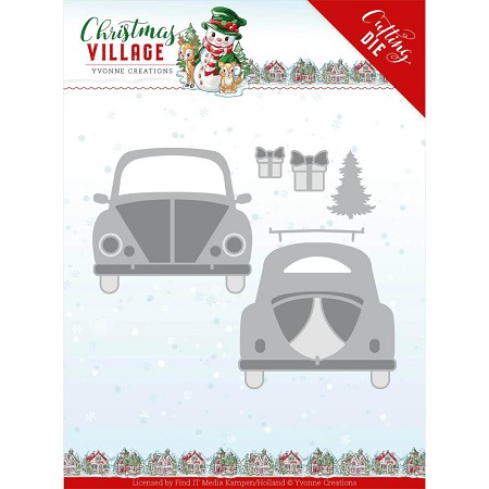 Find It Trading - Yvonne Creations Die - Christmas Village Christmas Car