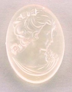 Frantic Stamper - Resin Cameos - Clear Woman on Frosted Crystal Oval - Package of 5