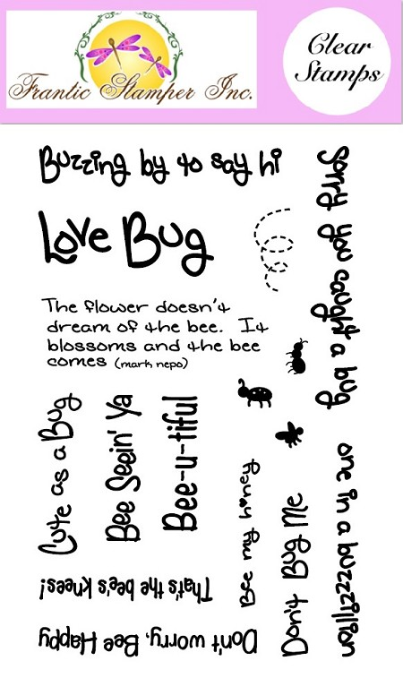 Frantic Stamper Clear Stamp Set - Bee-u-tiful
