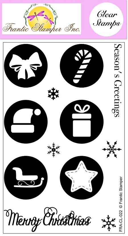 Frantic Stamper Clear Stamp Set - Round Christmas Vignettes