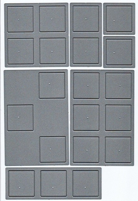 "Frantic Stamper Precision Die - Series #1 (1"" base) - Set of 6 ""squares"" dies (with additional FREE Single Square)"