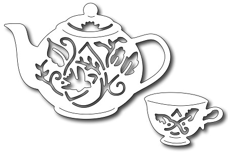 Frantic Stamper Precision Die - Tea set (set of 2 dies)