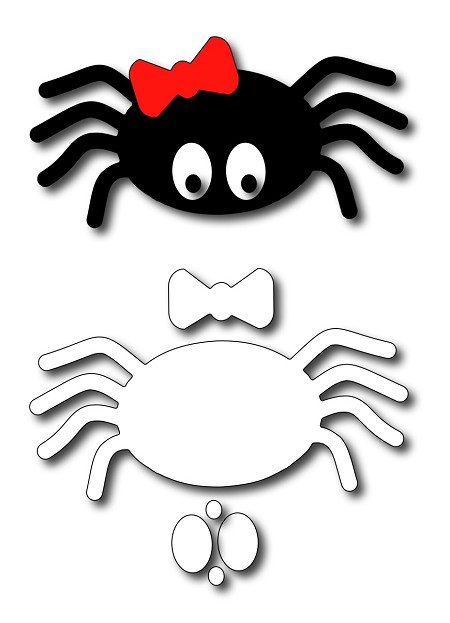Frantic Stamper Precision Die - Large Cute Spider
