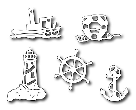 Frantic Stamper Precision Die - Nautical Icons (set of 5 dies)
