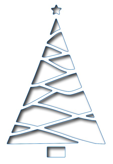 Frantic Stamper - Precision Dies - Reverse Cut Triangle Christmas tree