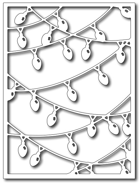 Frantic Stamper Precision Die - Christmas Light Card Panel