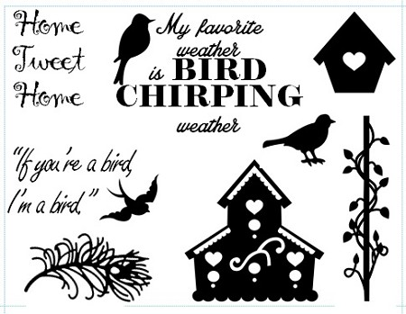 Frantic Stamper Un-Mounted Rubber Stamp - Bird Talk