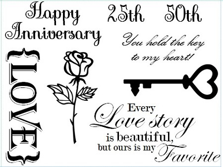 Frantic Stamper Un-Mounted Rubber Stamp - Anniversary
