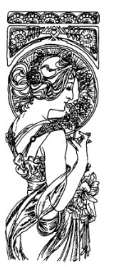 Frantic Stamper Cling-Mounted Rubber Stamp - Sm Mucha Bookmark